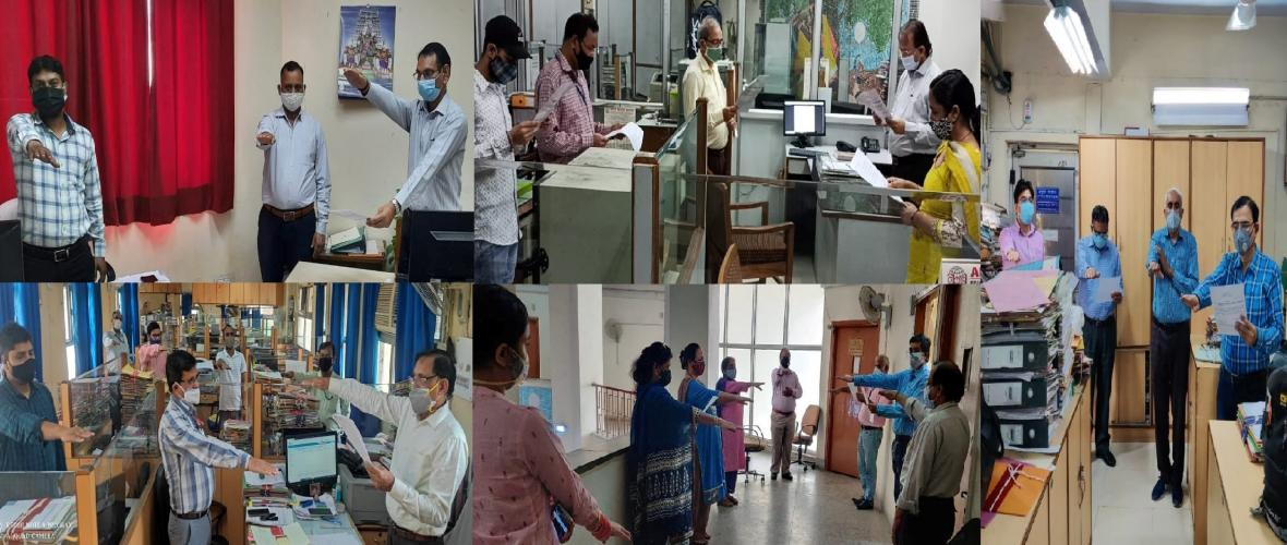 Pledge to fight against Terrorism by Officers and Employees of KVS (HQ).